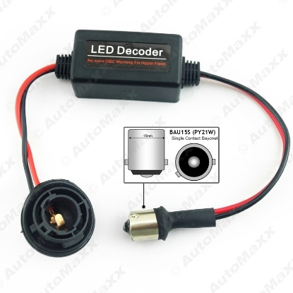 Picture of Car BAU15S LED Light  No Error Load Resistor No Flickering Decoder