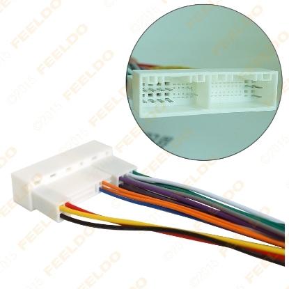 Picture of Car Radio Stereo Wiring Harness Adapter Plug For Hyundai IX35/Elantra/Santa Fe/Sonata Aftermarket CD/DVD Stereo Installation