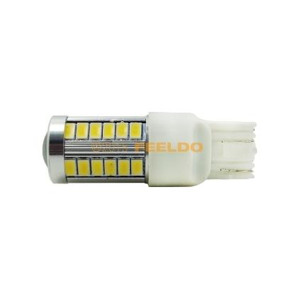 Picture of 1pcs White Car 12V 7443/T20/W21/5W/W3x16q 33SMD LED 5630 Tail Reverse Parking Light Bulbs
