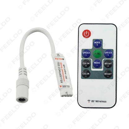 Picture of Car Mini RF RGB Controller Wireless LED Light Remote Controller for RGB 5050/3528 LED Lights Strips