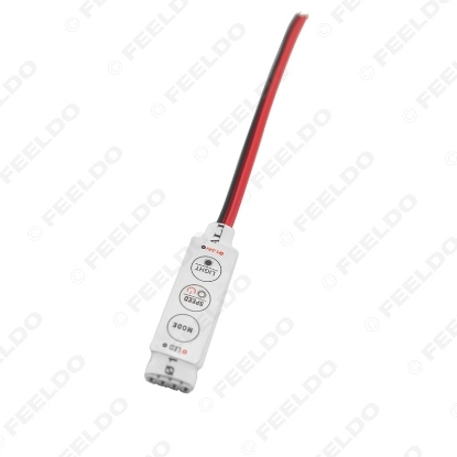 Picture of DC5V~24V 4Pin-LED Strip Flasher Module Flash Strobe Controller With 5.5mm/2.1mm DC Female Power Adapter