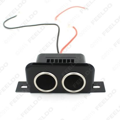 Picture of 12V Car Motorbike Tractor Boat Cigarette Lighter Double Socket Plug