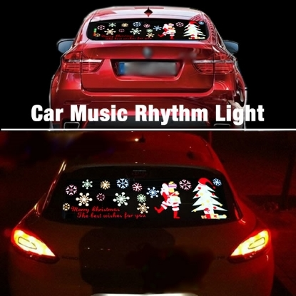 Picture of Car Music rhythm lamp led sound activated equalizer flashing light