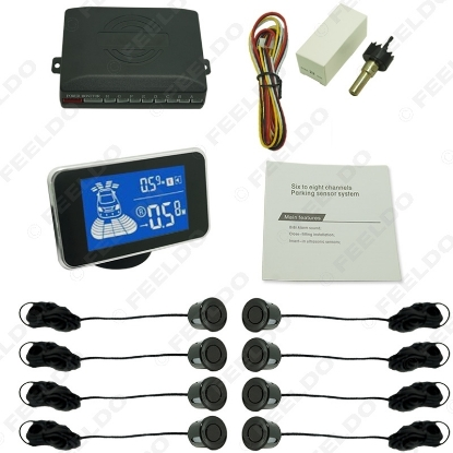 Picture of New 8 Sensors Car Front And Rear Parking Distance Digital Dual Display Parking Sensor