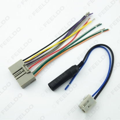 Picture of Car Audio CD Player Radio Stereo Wiring Harness Antenna Adapter Plug For Honda Civic/Fit/CR-V/Odyssey