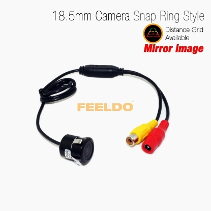 Picture of Car 18.5mm Snap Ring Car Mirror Image RCA Camera