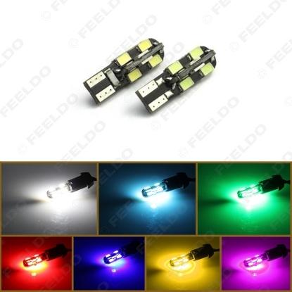 Picture of 1pcs DC12V T10 12LED 3528SMD CANBUS No Error Car Side LED Light Lamp Bulbs 7-Colors
