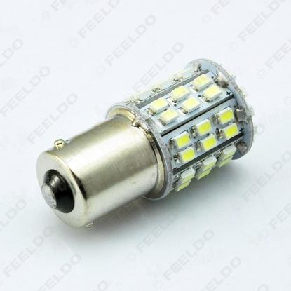 Picture of 1pcs White Auto T20 T25 1156 BA15S 1206SMD 64Leds Car Tail Brake Turn Signal Light Bulb