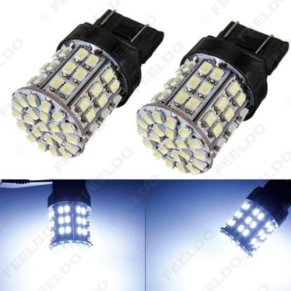 Picture of 1pcs Cool White 12V T20 7443 64SMD 1206LED Car Auto Tail Turn Signal Brake LED Lights Bulb Lamp