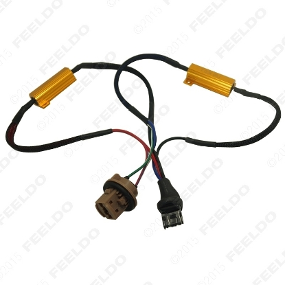 Picture of 1pcs 7443/7444 LED Decoder Car LED Light Error Canceller Adapter Resistor Cable Canbus Function Wire Warning Flashing Canceler