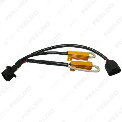 Picture of H13 Resistor Harnesses LED Decoder LED Warning Canceller For LED Car Light