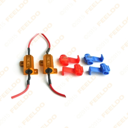 Picture of Car 25W 6ohm LED Load Resistors For Turn Signal Light Fix Bulb Out/Error/Blink Adapter