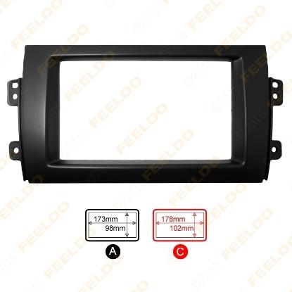 Picture of 1pcs Car 2DIN Refitting Radio Stereo DVD Frame Fascia Dash Panel Installation Kits For SUZUKI SX4(07~10)