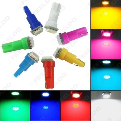 Picture of 1pcs DC12V Auto T5 74 2721 5050 1-LED Wedge Base Dashboards Gauge bulbs Car LED Lights7-Color