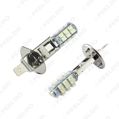 Picture of 1pcs White Power Car LED Fog Headlight H1 3528/1210 Chip 26SMD Auto LED Light Bulb DC12V