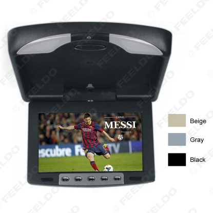 """Picture of 9"""" Flip Down TFT LCD Monitor Car Monitor Roof Mounted Monitor 2-Way Video Input 3-Color For Choice"""