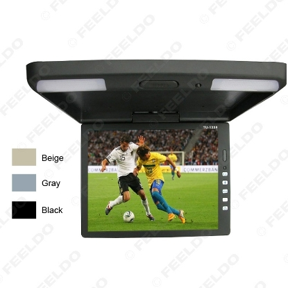 Picture of 3-Color 13.3 Inch Car/Bus TFT LCD Roof Mounted Monitor Flip Down Monitor 2-Way Video Input 12V