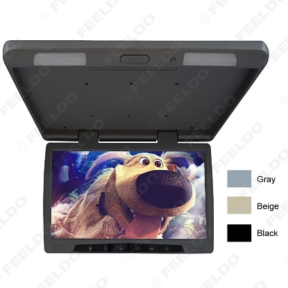 Picture of 12V Bus Car 19 inch Roof Mounted TFT LCD Monitor Flip Down Monitor with Touch Button