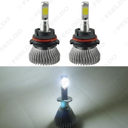 Picture of 1set Super White 9004/9007 Hi/Lo 60W 6400LM Car COB LED Headlight Kit Fog Lamp Bulbs Light Xenon 6000k