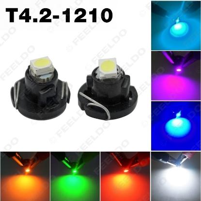 Picture of 1pcs DC12V T4.2 1SMD 1210/3528 Car LED Dashboard Meter Panel LED Light Bulb 7-color