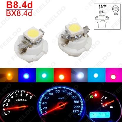 Picture of 1pcs Car 12V B8.4d/BX8.4d 1SMD 5050 Gauge Dashboard LED Light Interior Lamp 7colors