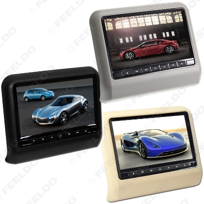 """Picture of Digital HD 9"""" Car Headrest LCD Monitor Hanging DVD Player With FM USB SD Game 3-Color"""