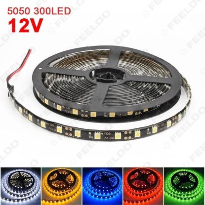 Picture of Car Waterproof 12V 500cm 5m 5050SMD 300 Leds Decoration LED Strip Light DRL Light 6-Color