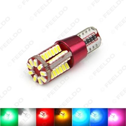 Picture of 1pcs T10 194 3014SMD 57Leds 336LM Canbus Error Free Car LED Light Bulb DC12/24V 7-Color