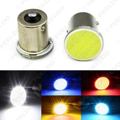 Picture of 1pcs Car 1156 BA15S S25 COB 12SMD LED Tail Signal Backup Stop LED Light Bulbs 5-Color