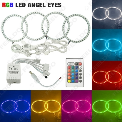 Picture of COLORFUL 5050 RGB LED FLASH ANGEL EYES HALO RINGS For BMW 3 Series E46 (2Doors/ Convertible) 1999-2001