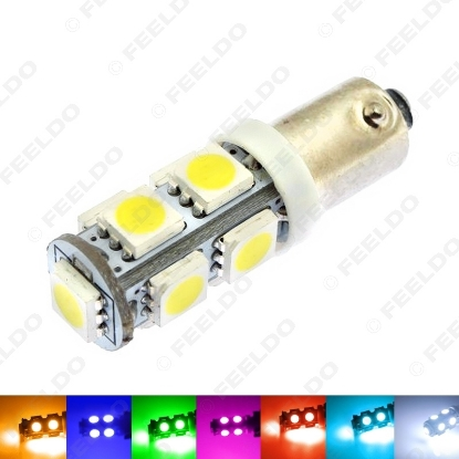 Picture of 1pcs 7-Color BA9S T4W 1895 5050 Chip 9SMD 9LED Car LED Light Bulbs Side Light Reading Light DC12V