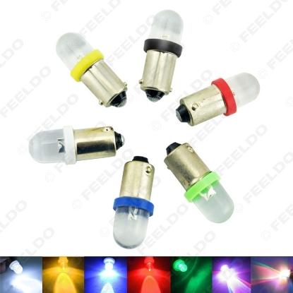 Picture of 1PC DC12V Car Auot Ba9s 1895 57 T4W 182 Convex 1-LED Car LED Light Bulb Lamps 6-Color