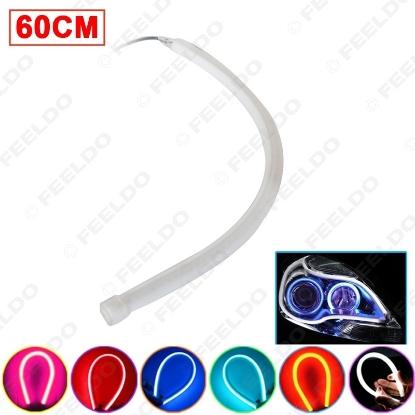 Picture of 1pcs 60cm DRL Flexible Soft Tears Strip Daytime Running Light LED Tube Car Headlight Turn Signal Light