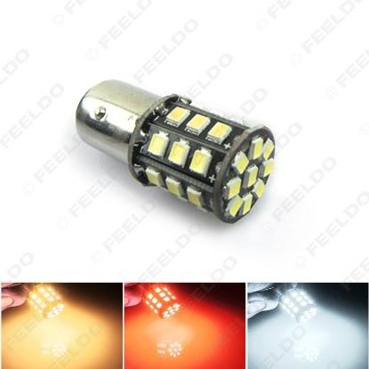 Picture of 1pcs T20 T25 1156 BA15S 33SMD 2835 33LED Car Auto Tail Brake Turn Signal Light Bulb 3-Color