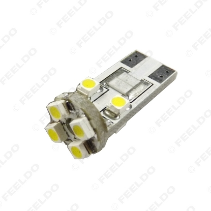 Picture of 1pc White T10/168/194 Wedge 8LED 3528/1210 8SMD Canbus No-Error Car LED Light Bulbs