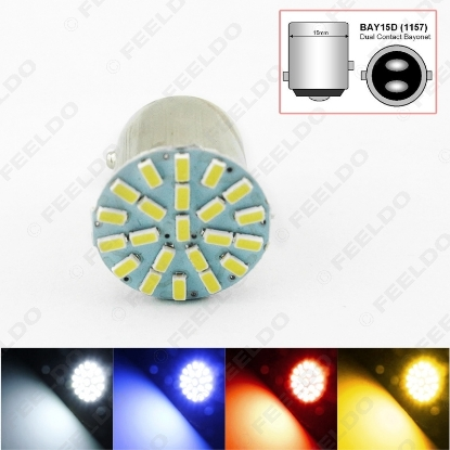 Picture of 1pcs Car 1157 BAY15D 3014 Chip 22SMD Auto LED Light Lamp Turn Signal Brake Lights