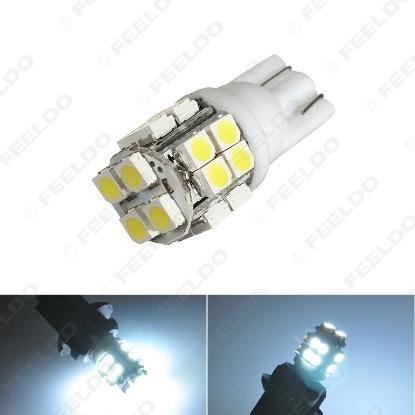 Picture of 1pcs DC12V White T10 194 W5W 20LED 1210/3528 20SMD Wedge Car LED Light Bulbs Door Light
