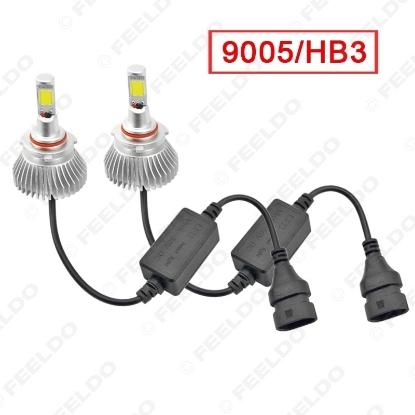 Picture of Super White 6000K 9005/HB3 60W 6400LM Car COB LED Headlight Kit Fog Lamp Bulbs Xenon Light