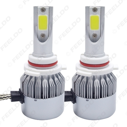 Picture of All In One Car LED Headlight 9006/HB4 2-COB 6500K 72W 7600LM Auto LED Bulb Foglight Headlamp