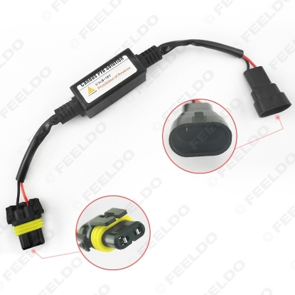 Picture of Car Warning Canceller Capacitor Error Free Load Resistor LED Canbus Decoder for 9006 Fog light