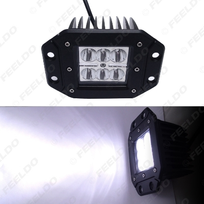 Picture of 4Inch 18W 6LED Car LED Work Light Off Road Spot Flood Light DRL for Motorcycle 4x4 Trucks Vehicles SUV DC12-24V