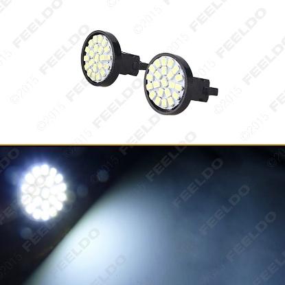 Picture of 1pcs White 3157 T25 22LED 1206SMD Tail Brake Turn Signal Car LED Light Bulbs