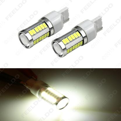 Picture of 1pcs White 7440 5630SMD 33LED 850LM Car LED Turn Signal Brake Tail Light Bulb Socket
