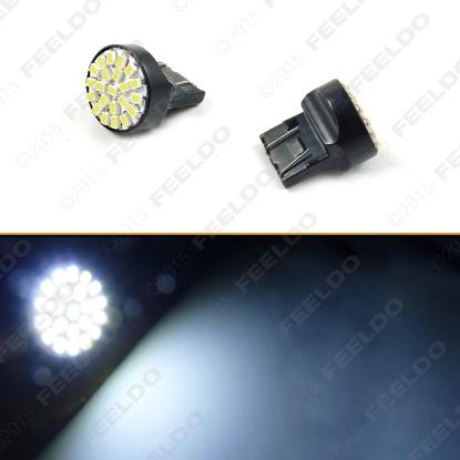 Picture of 1pcs White 7443 T20 22LED 1206SMD Brake Tail Turn Signal Car LED Light Bulbs