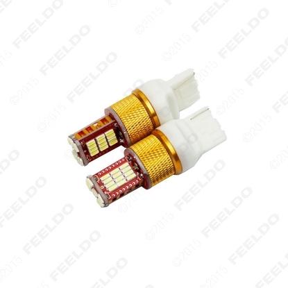 Picture of 1pcs White Car T20 7440 4014-Chip 33SMD LED Brake Tail Stop LED Light Bulbs 12V