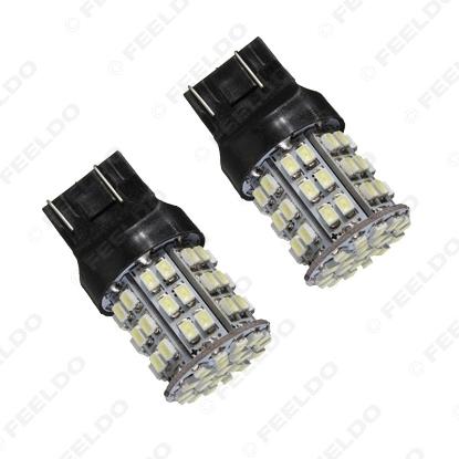 Picture of 1pcs White 12V T20 7443 64SMD 1206LED Car Auto Turn/Brake Signal Tail LED Light Bulb