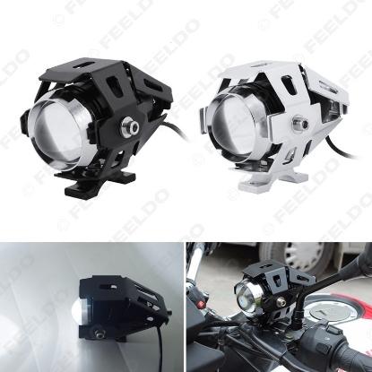 Picture of 1pc Waterproof Motorcycle 125W U5 3000LM CREE Motorbike Transformer Driving Spot Head Lamp Fog Headlight