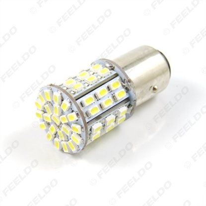 Picture of 1pcs White 1157 BAY15D 64SMD 1206 LED Light Car Brake Signal Light Bulbs