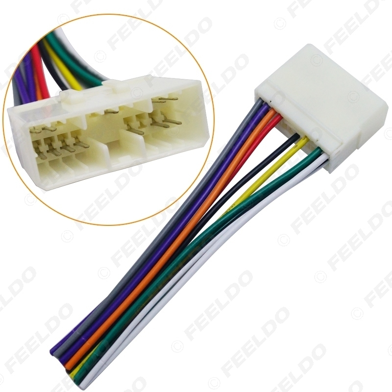 Picture of Car Audio Radio Stereo Wiring Harness Adapter For Daewoo/Actyon/Chevrolet Spark (Female) Install Aftermarket CD/DVD Stereo