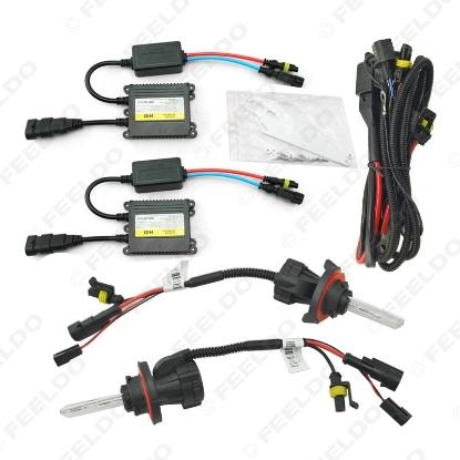Picture of 1set 35W AC Car Headlight H13 HID Xenon Bulb Hi/Lo Beam Bi-Xenon Bulb Light Digital Slim Ballast HID Kit